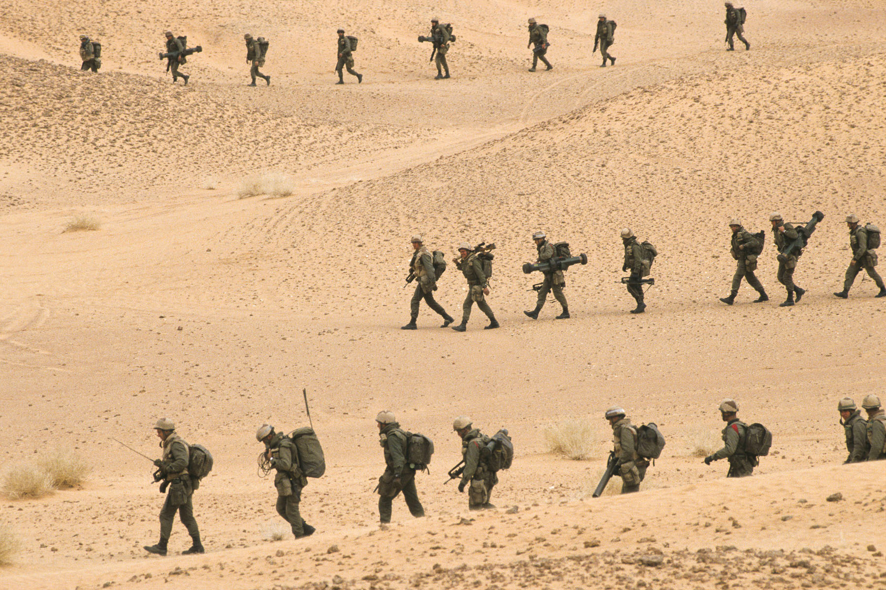 French Foreign Legion troops in January 1991