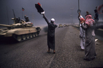 Triumphal arrival of the coalition troops in Kuweit in February 1991