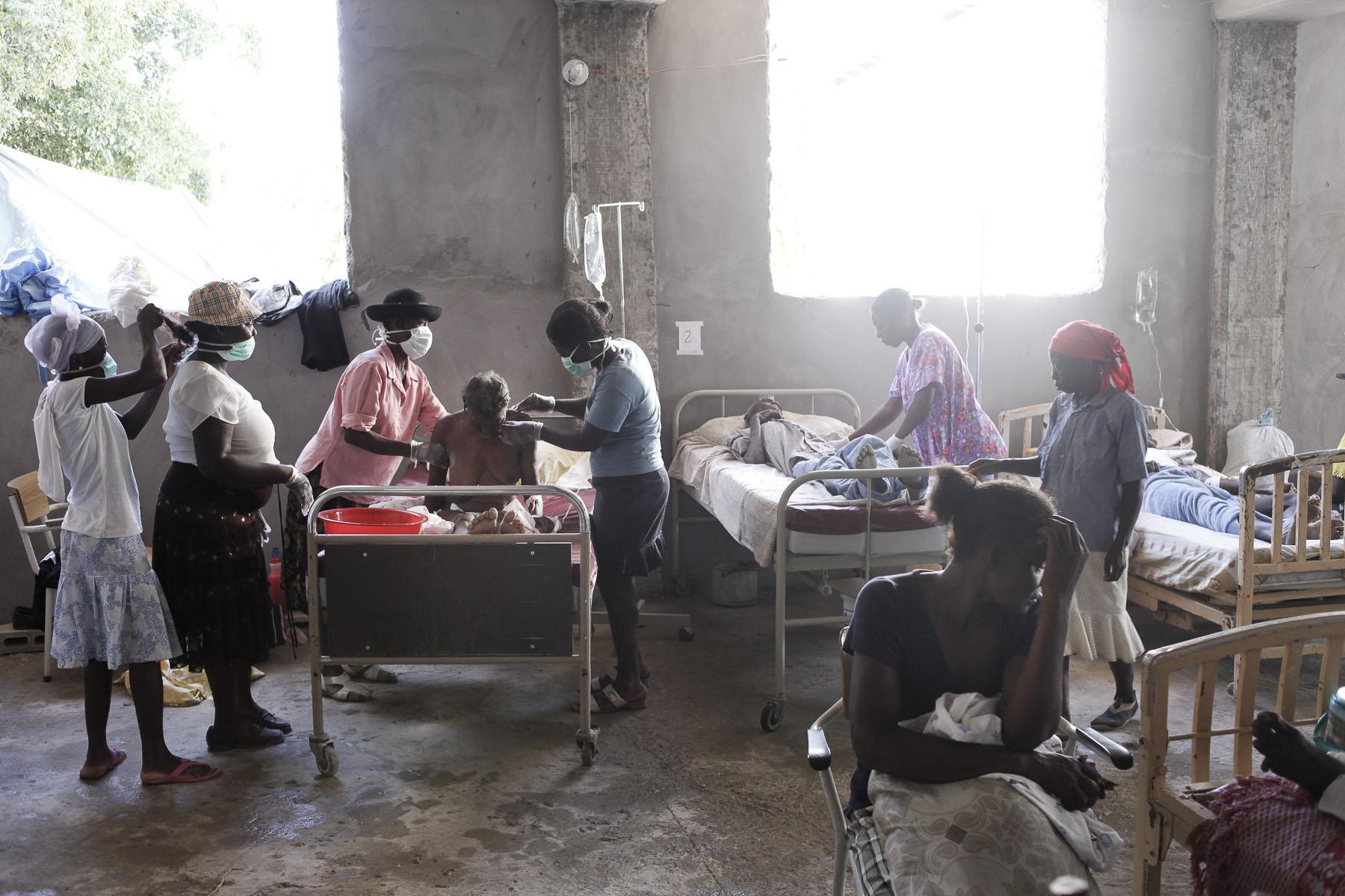 Cholera treatment center on Tuesday, November 23, 2010