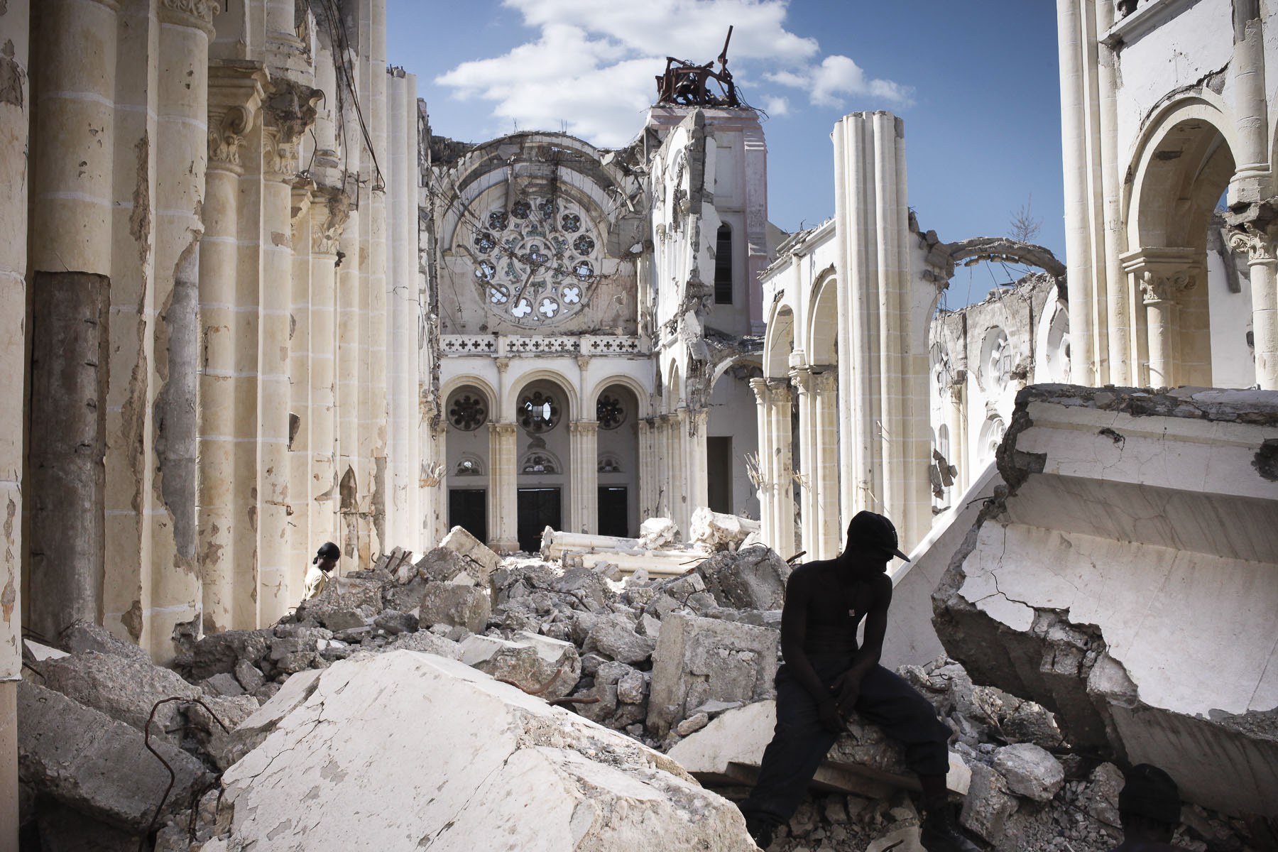 The ruins of the cathedral damaged during the January 12, 2010 earthquake on Wednesday, November 24, 2010