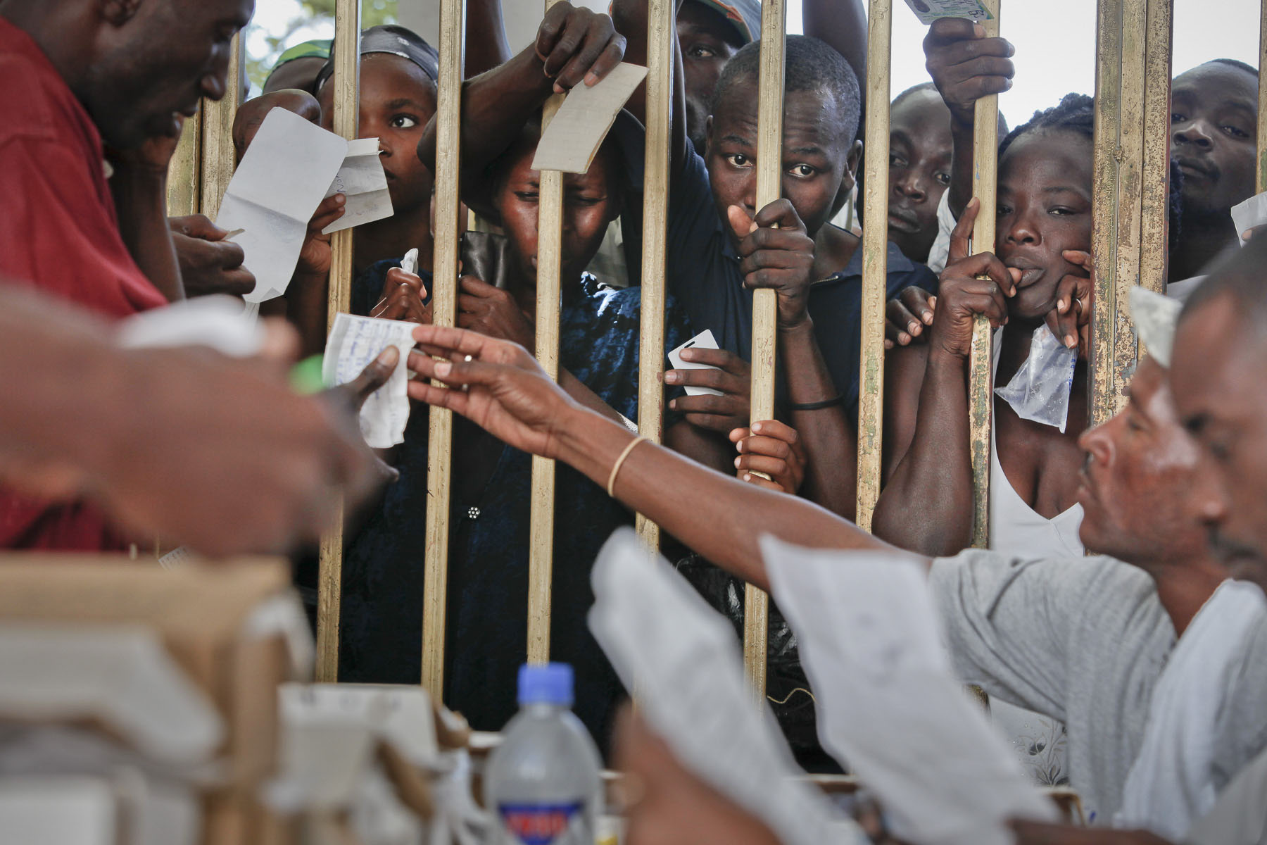 Haiti, Gonaïves. Distribution of voting cards two days before presidential elections on Friday, November 26, 2010