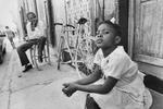 Little girl in a Cap-Haitien street in August 1986