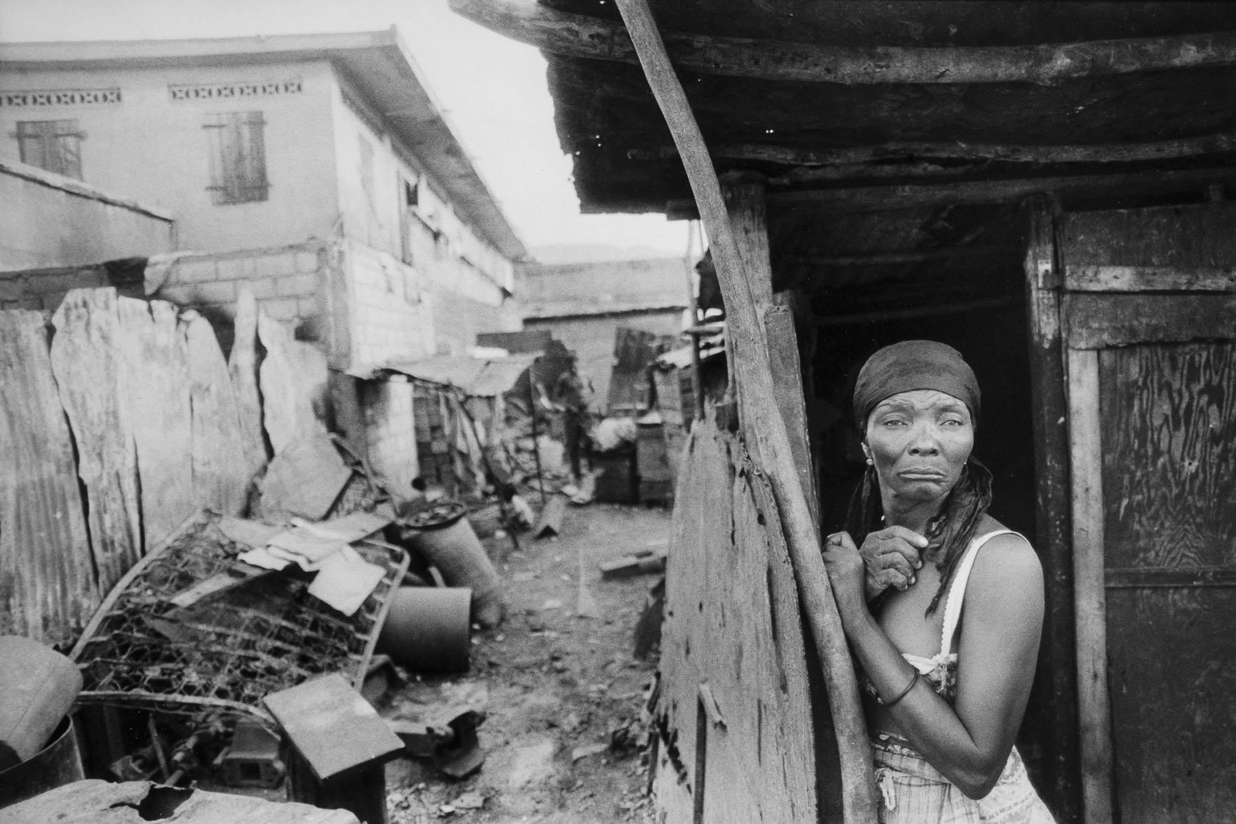 A woman in the shantytown of La Saline in August 1986