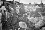 Market in the shantytown of La Saline in August 1986