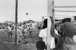 Football match in the shantytown of La Saline in August 1986