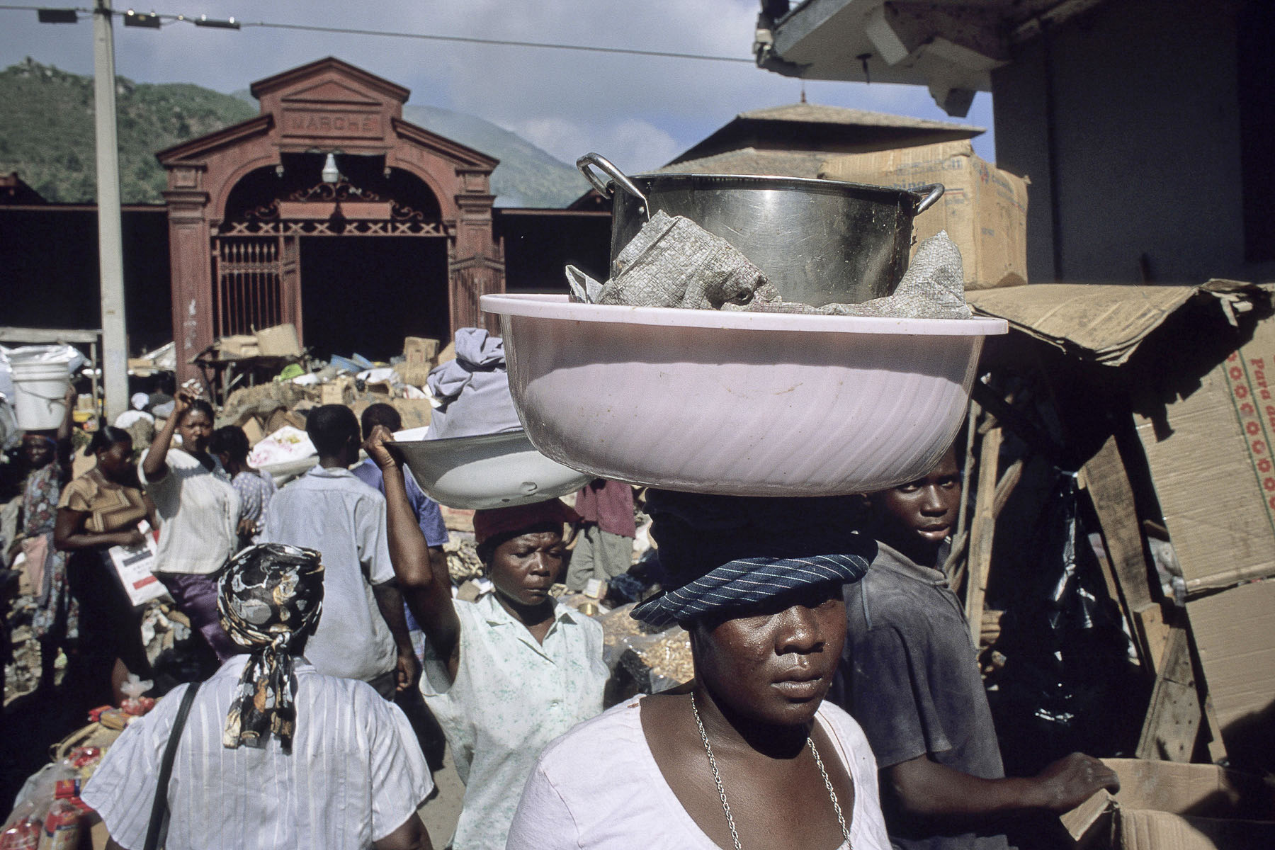 The iron market in Cap-Haitien historic center in October 2003