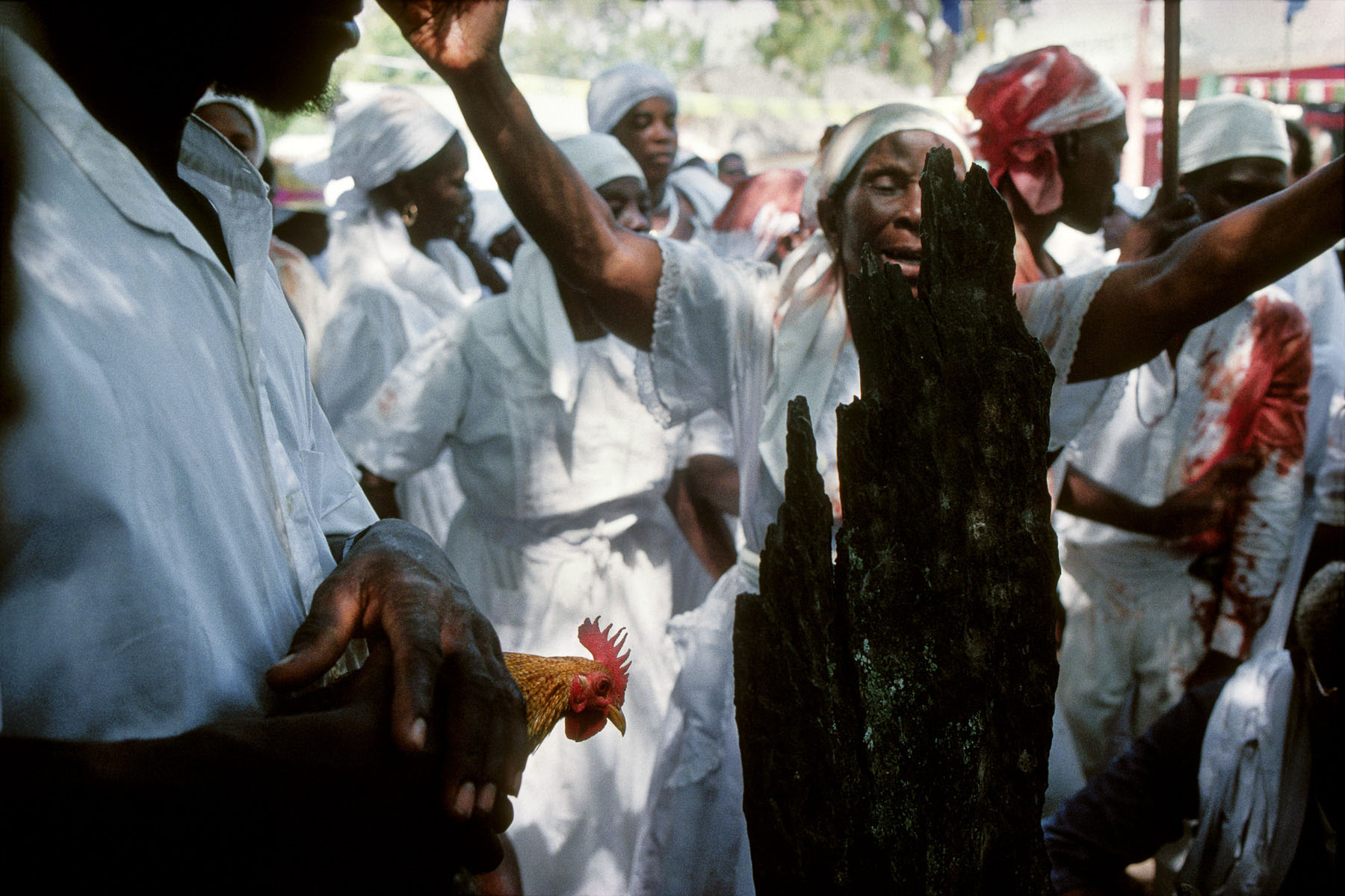 On Easter weekend the community of Lakou de Souvenance organizing their big annual gathering in April 1996