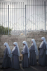 Catholic nuns on the Mount of Olives during Palm Sunday procession in April 2009