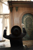 An ultra-Orthodox Jew prays in the synagogue of theTomb of the Patriarchs in November 2009
