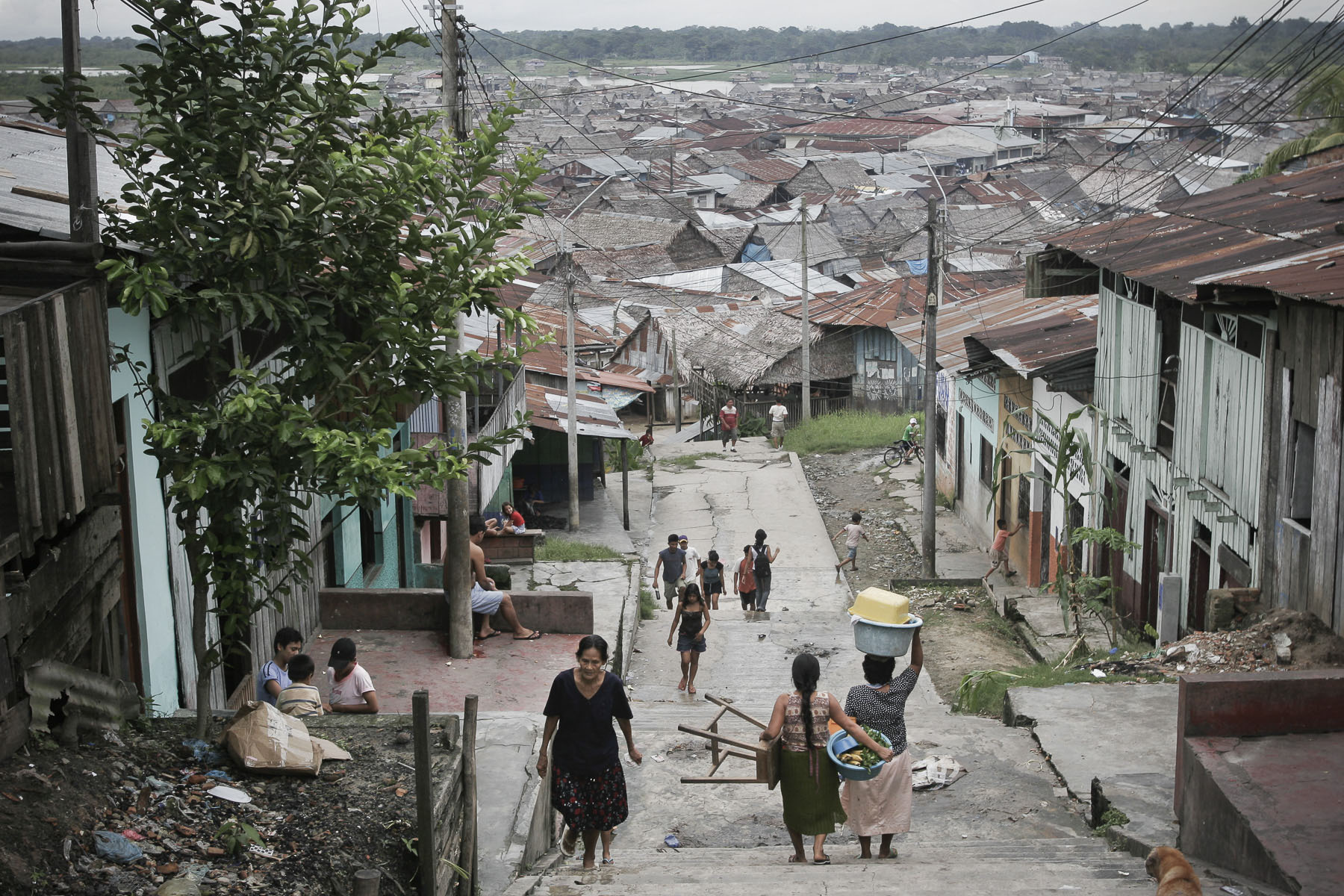 Belém, a shanty town built on the Amazon  River on April 2005