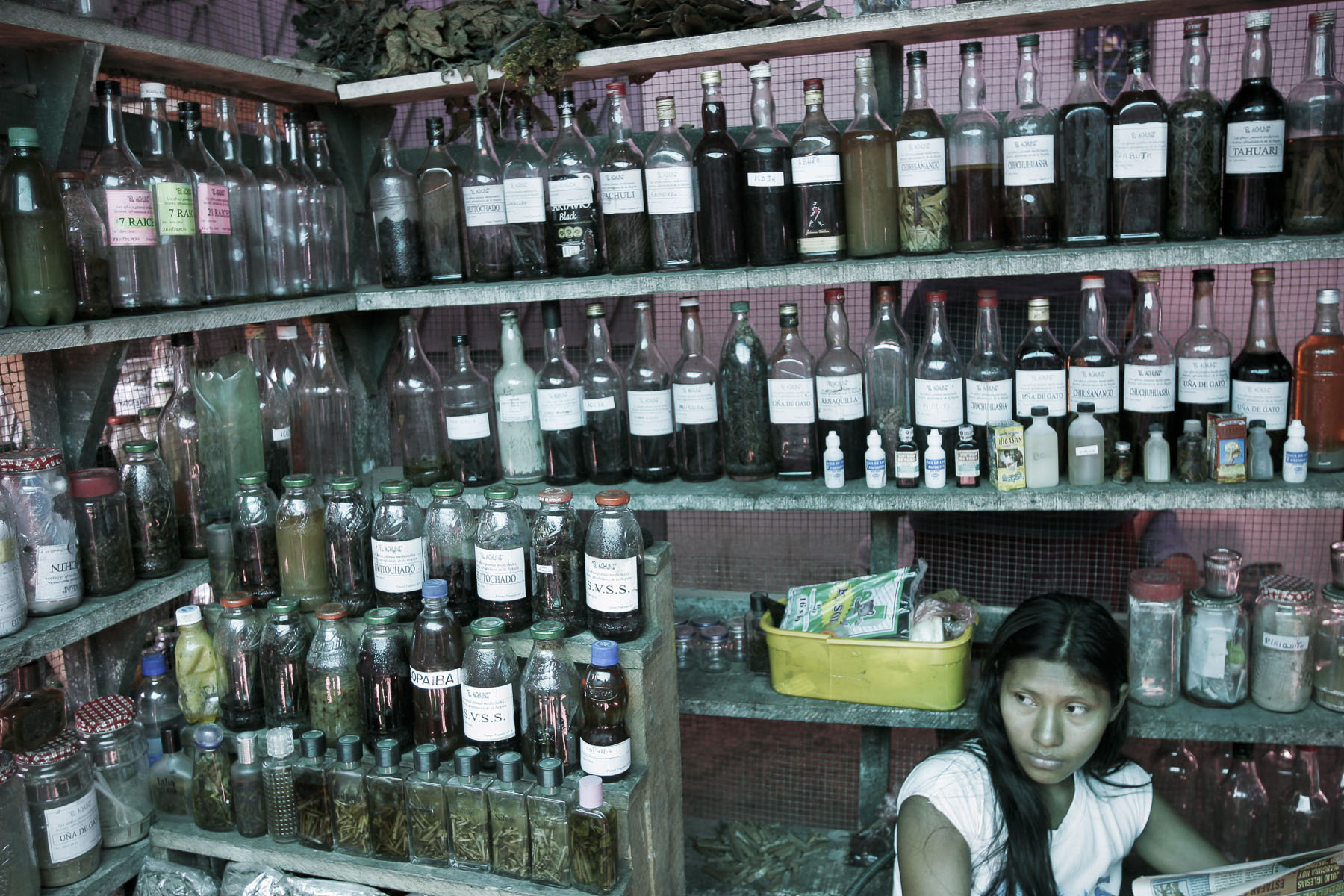 Traditional medicine merchant on April 2005