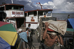 The commercial harbour on the Amazon River on April 2005