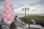 The Maldonado Malecon, promenade on the Amazon River on April 2005