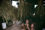 Djameelah, Rasta smoking in a marijuana warehouse in January 2001