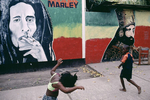 Children in the Trenchtown area in January 2001