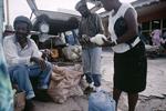 Rasta farmers in a market in January 2001