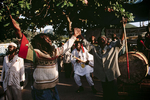 Members of the Nyabinghi Rasta movement during a ceremony in January 2001