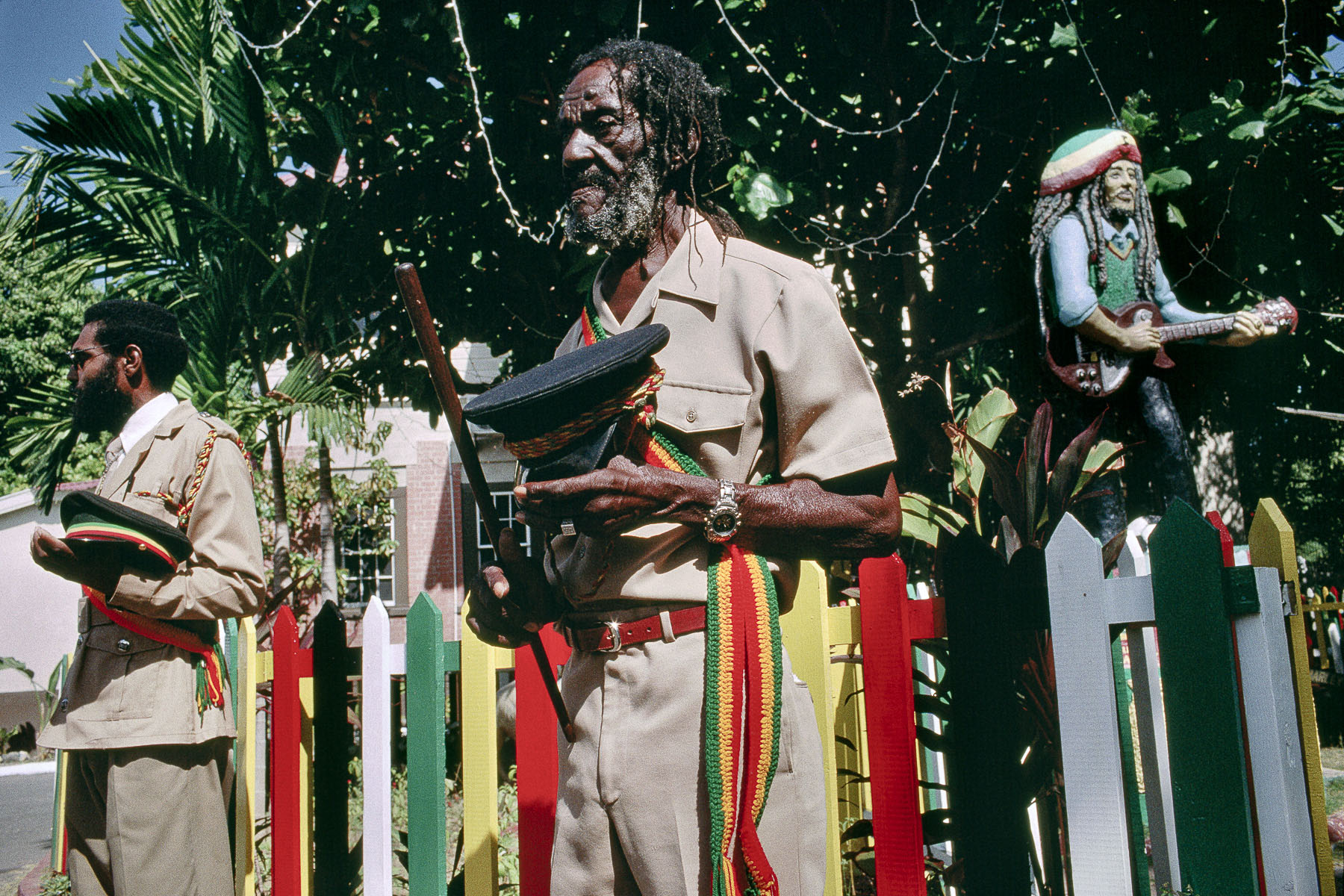 Commemoration to Bob Marley in his museum in January 2001