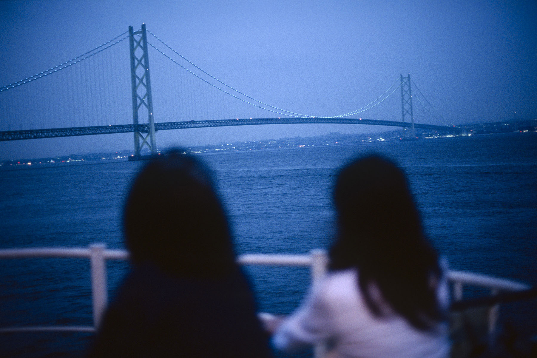 The Kobe bridge from the ferry back to Awaii island in May 1999