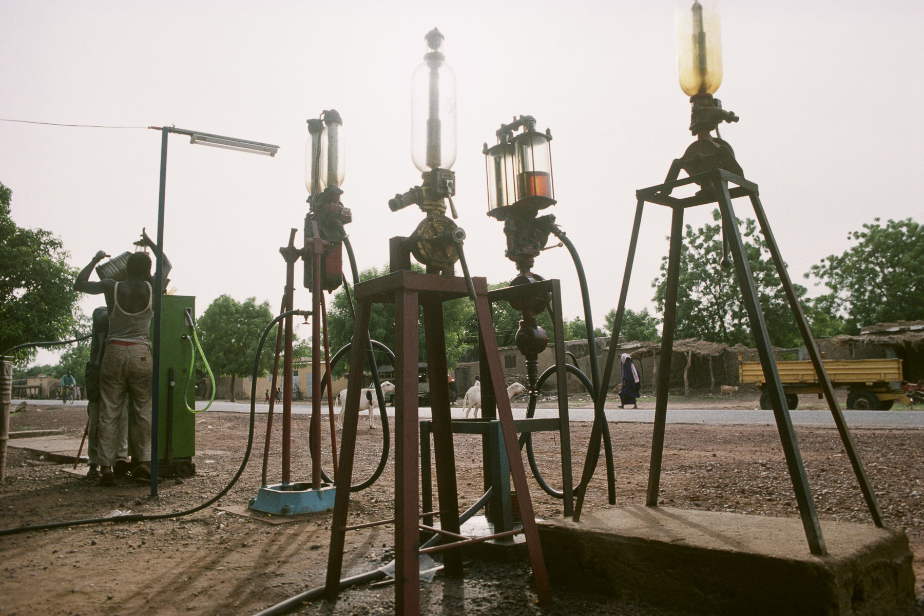 Gas station on the road to Mopti in 1994