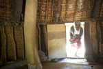 Aïzik Wea, brother of Djubelly Wea, the murderer of Jean-Marie Tjibaou, in his hut in Gossanah, November 2017