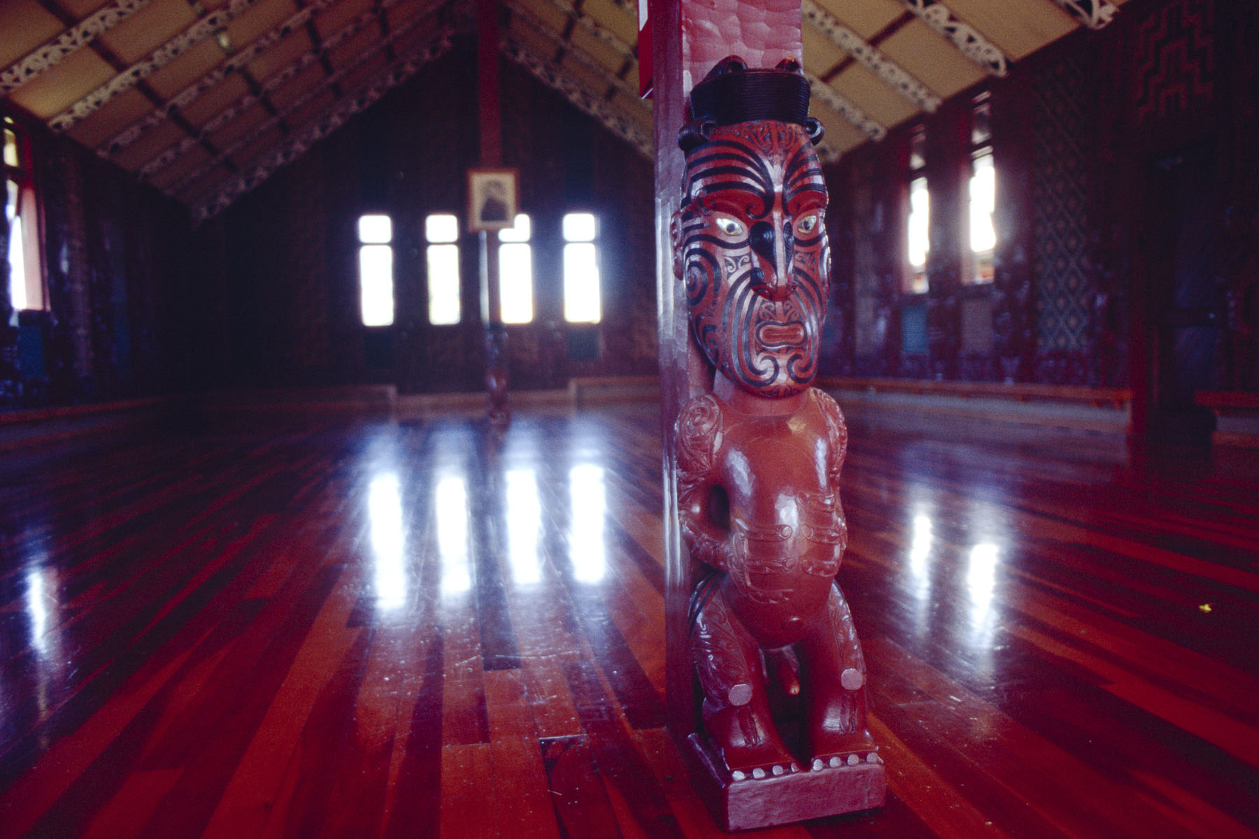 A marae, Maori traditional meeting place in May 2000