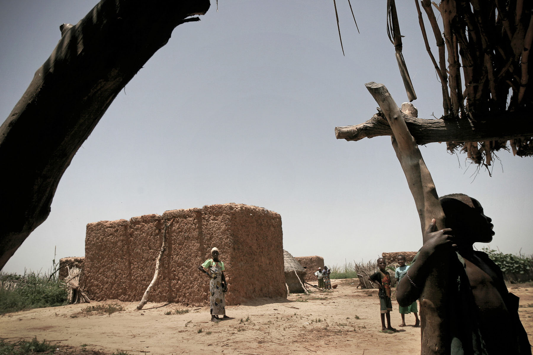 Village in the Sahel area in September 2005
