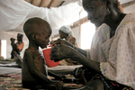 MSF (Doctors Without Borders) malnutrition center in September 2005