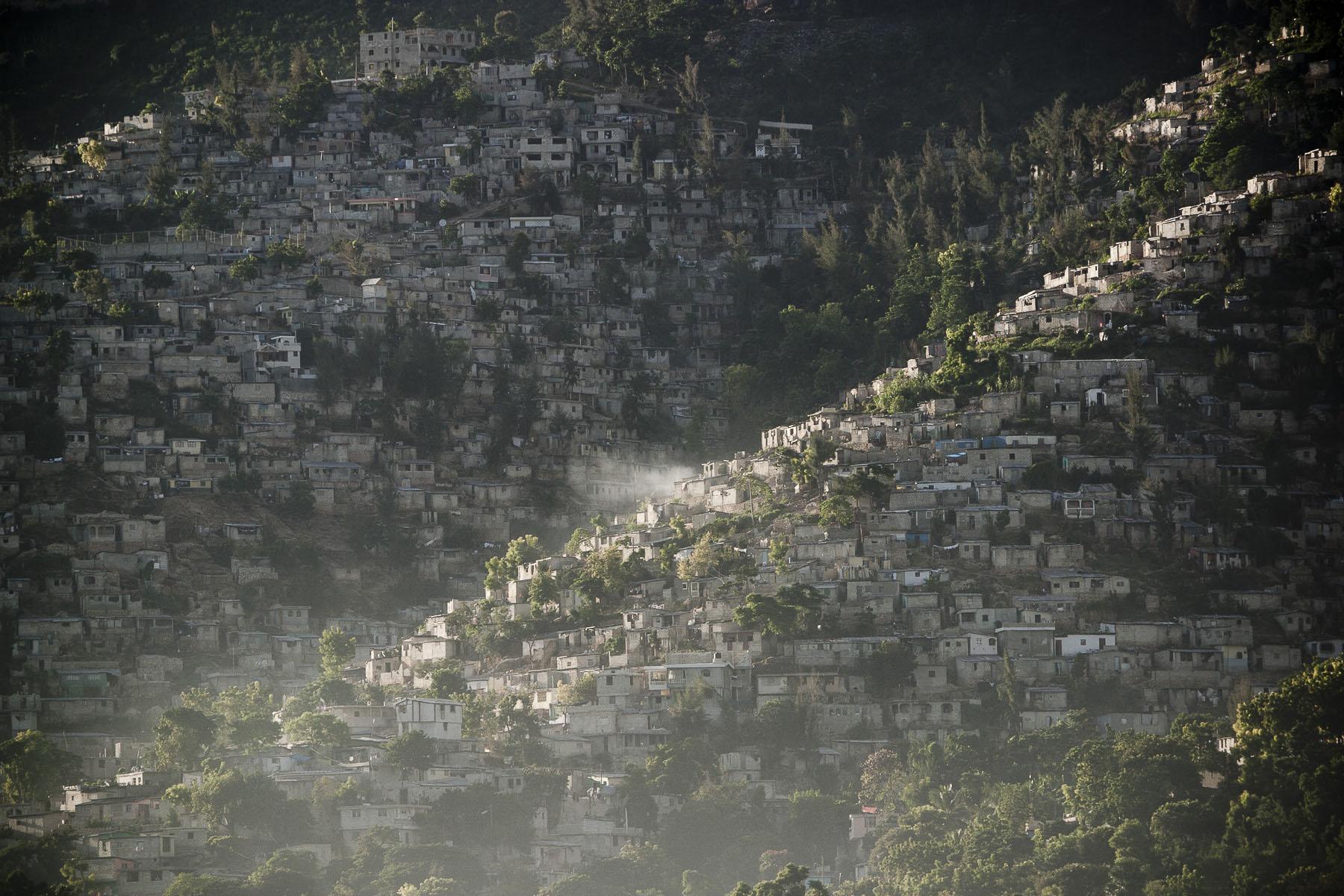 Morne-Calvaire. Dezermit and Jalouzi ravines (slums) in November 2003