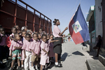 Pont-Rouge, Zephyr school, raising of the national colors in November 2003