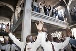 Ceremony in the Haiti First Christian Church, Evangelist church in November 2003