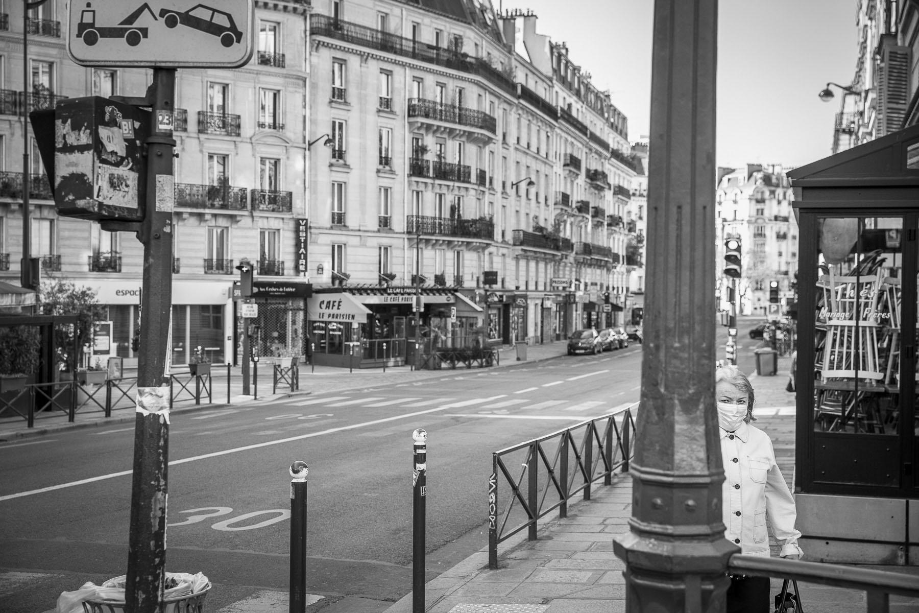 Rue Monge. April 24 2020