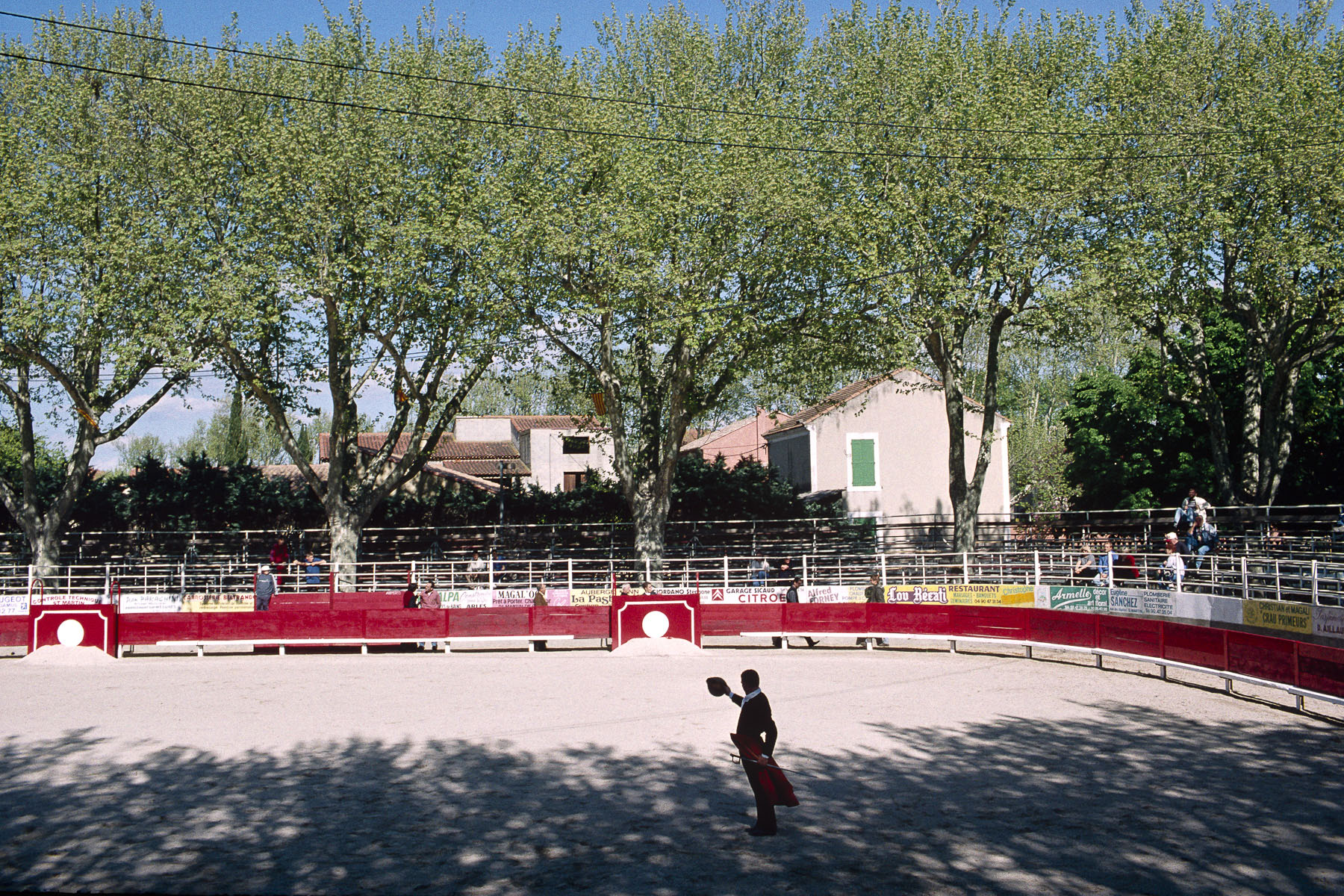 Novillada, bullfight with only novice toreros, on the village place. 2000