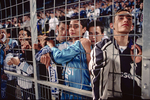Supporters of the Olympique of Marseille football team. 2000