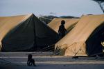 Somali refugee camp in July 1992