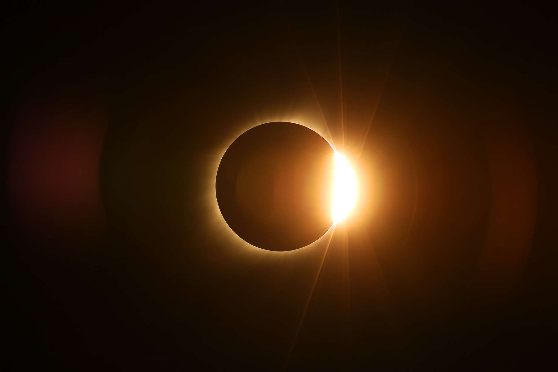 The moon passed in front of the sun for a total solar eclipse visible in August 2017 from Farmington, Mo.