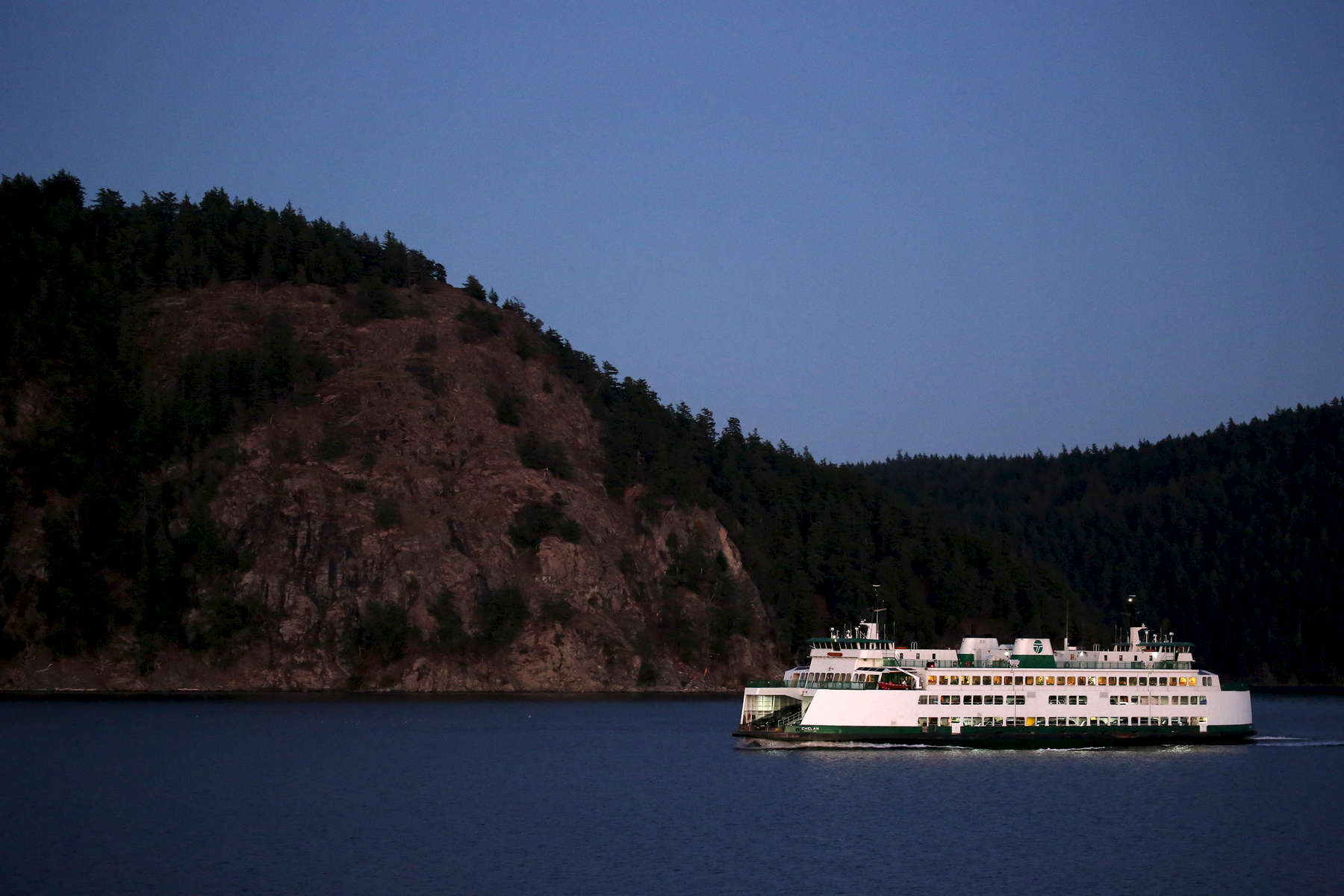A ferry heads to Friday Harbor from Anacortes.