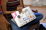 Shirya Nevatia's laptop is seen during the last meeting of the summer cohort of the Violet Society at Shirya Nevatia's home in San Francisco, Calif., on Wednesday, August 22, 2018. Described as a {quote}startup sisterhood for future founders,{quote} the group met weekly for 12-weeks to help mentor each other. This summer group was the first cohort of the organization. CONTACT:Shriya NevatiaSneva831@gmail.com518-338-8505Michelle Galemmo mgalemmo@gmail.com267-866-7366Grace HuGracehu532@gmail.com650-773-6195Marie HepferMarie.hepfer@gmail.com616-443-3443Nicole GarciaNicole@femkit.com925-818-7841Lucille ZhaoLucille.zhao@gmail.com312-866-7366Giselle Vasquez gissibrand@gmail.com787-366-4967
