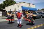 Dancers perform while taking part in the 34th annual Cinco de Mayo Parade, a major town event, in East Palo Alto, Calif., on May 5, 2019.