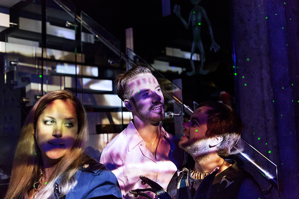 """Guests enjoy an """"Out of this World"""" theme party, which was held at the private loft belonging to a successful tech entrepreneur in San Francisco, Calif., on Saturday, February 1, 2014."""
