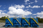 Hydraulic fracturing containers for Architecture of Energy series shot in Pennsylvania by Vermont photographer Judd Lamphere