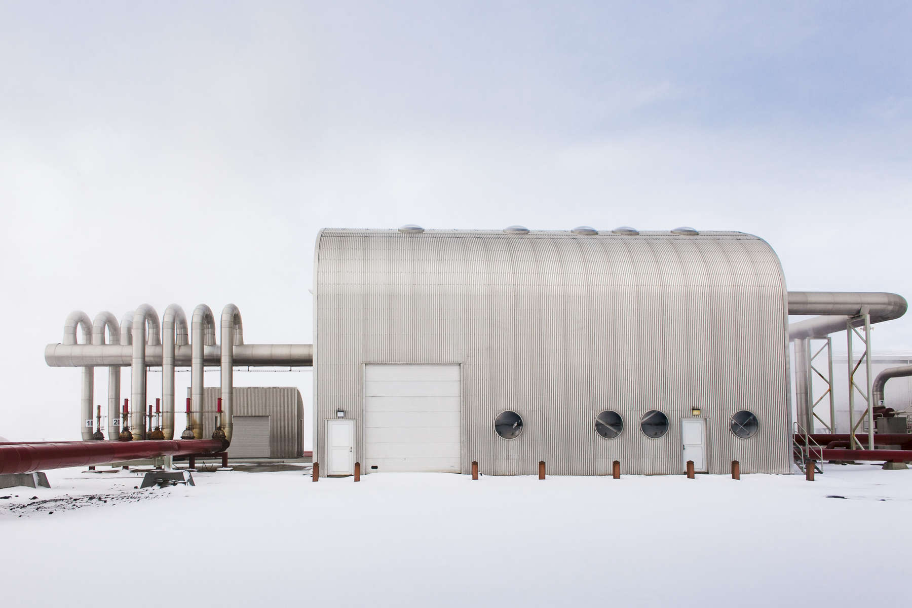 Svartsengi Power Station is one of five major geothermal power plants in Iceland.  Shot in Iceland by Vermont photographer Judd Lamphere.