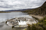 The Gordon Dam generates hydro-electric power in South West Tasmania, Australia.  Shot in Australia by Vermont photographer Judd Lamphere.