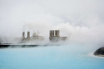 Svartsengi Power Station is a geothermal power station in Grindavik, Iceland, feeding surplus mineral-rich water into tbe Blue Lagoon, a popular tourist bathing resort near Reykjavik.  Shot in Iceland by Vermont photographer Judd Lamphere.