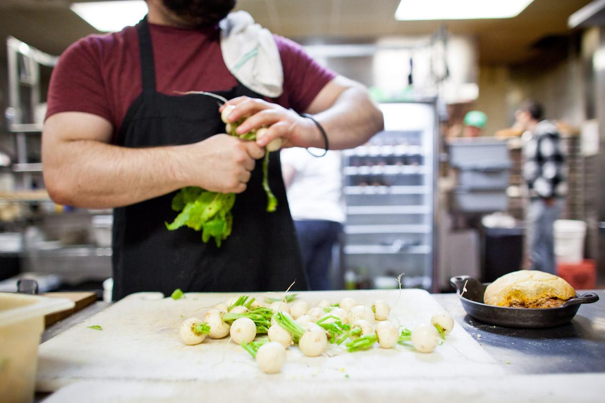 Farm to Table Preparing Turnips