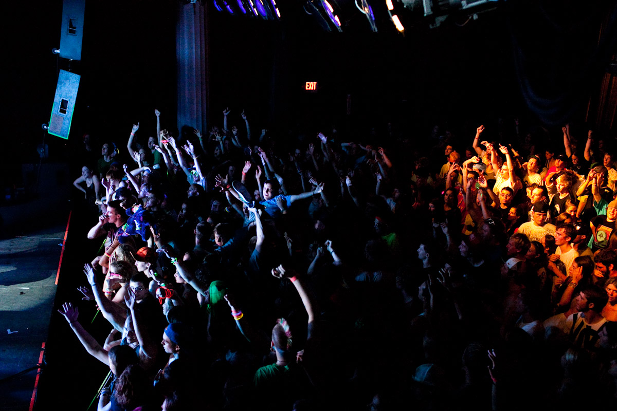 Crowdsurfing during  The Glitch Mob at Higher Ground in Burlington, Vermont.