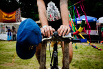 Bike-pedaled power at the Liberate Festival in Sheldon, Vermont.