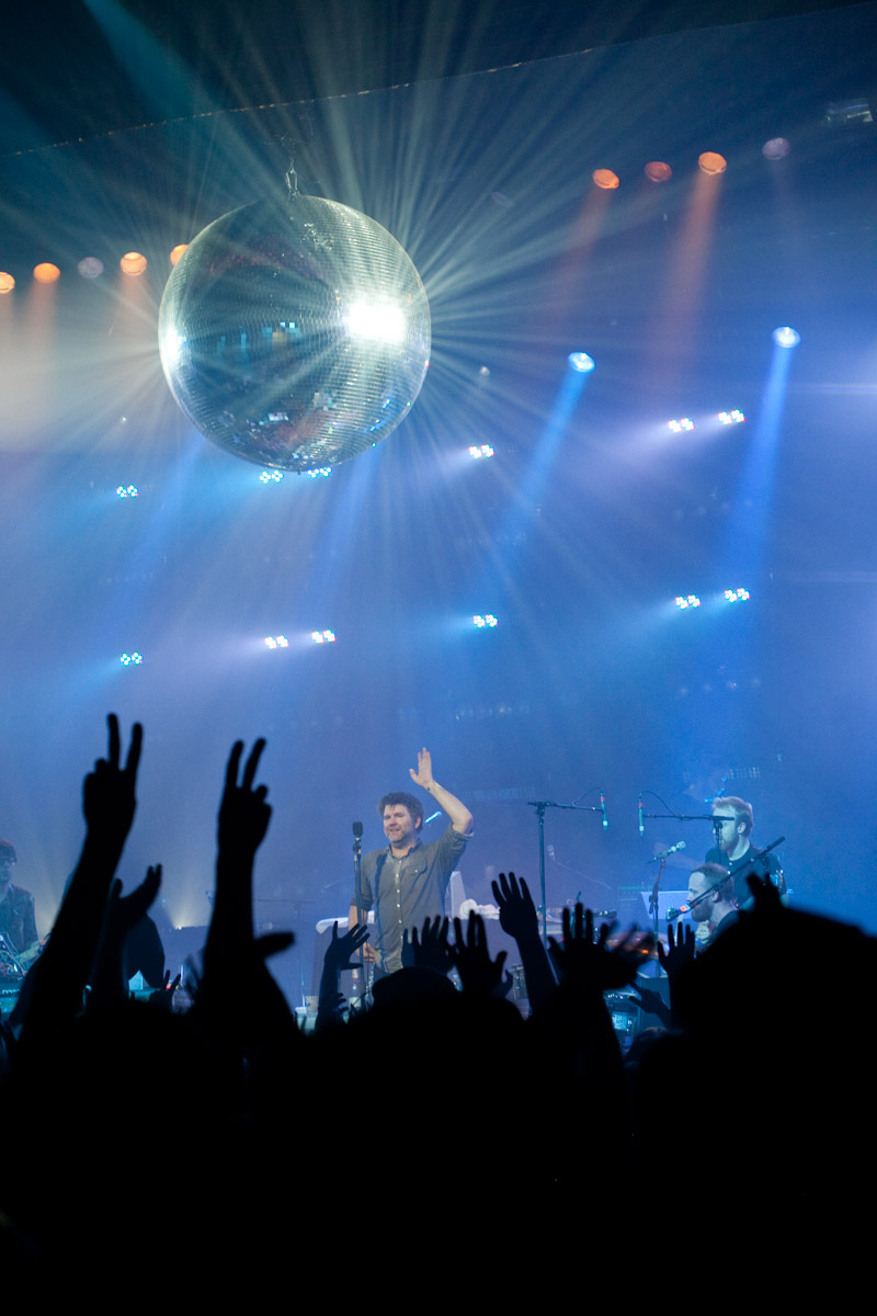 LCD Soundsystem performs at Memorial Auditorium in Burlington, Vermont.