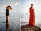 Left, Katheryn in South Hero, Lake Champlain. Right, Shannon, Ton Sai, Thailand, by Vermont Photographer Monica Donovan