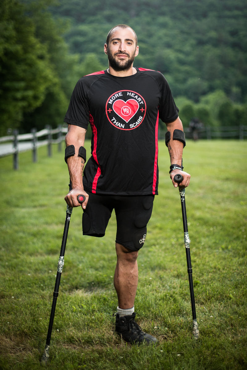 Portrait of Matthew Pietro from the 2016 Agoge 60 Spartan Race at Riverside Farm in Pittsfield, VT.